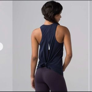 "Lululemon Midnight Navy ""All Tied Up Tank"""